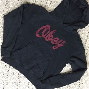Obey Pullover Hoodie Sweatshirt Size Small